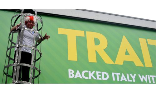CP+B Sends a Football Traitor to the Gibbets in World Cup stunt for Paddy Power