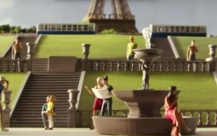 Airbnb's Giant 3D Zoetrope Brings Memories of Paris to Life