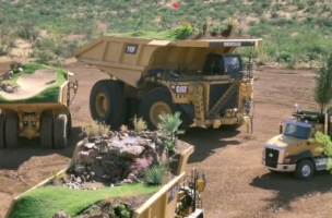 O&M NY's Caterpillar Campaign Turns Trucks Into a Moving Golf Course