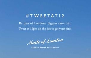 Nab a Free Pint with London Pride's #TweetAt12 Campaign
