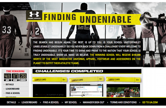 'Finding Undeniable' with Under Armour