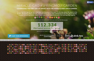 Miracle-Gro Is Going To Plant The World's First Emoji Garden via Tweets