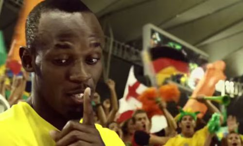 Usain Bolt Bolts to Brazil for Visa Europe