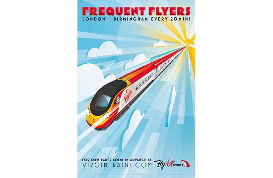 Virgin Trains Invites Customers to 'Fly'