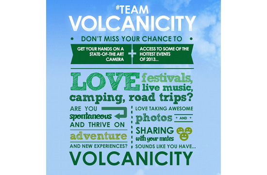 Volvic Launches Search for Team Volcanicity