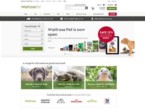 Home Brings a New Breed of Website to Waitrose Pet