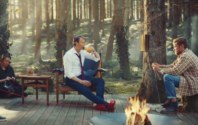 Mads Mikkelsen Unwinds in Carlsberg's Global 'Unfiltered' Campaign