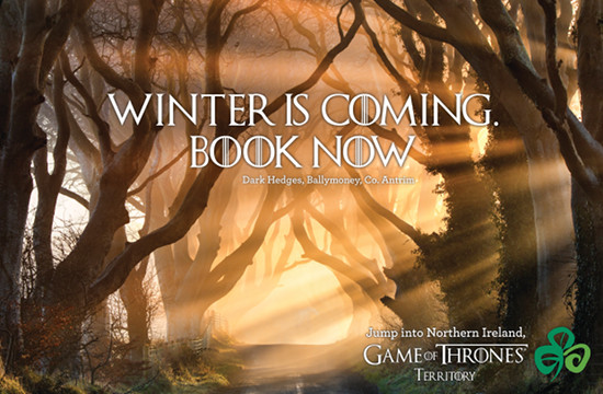 Tourism Ireland Tempts Tourists with Game of Thrones Scenery