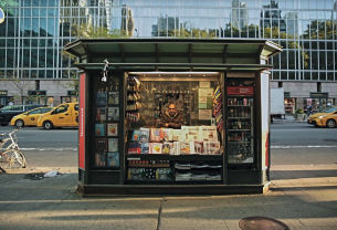 Columbia Journalism Review's Bryant Park 'News Stand' Installation Stands Up to Fake News Frenzy