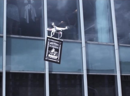 Wokker Goes Airborne With Moscow's First Drone-vertising Campaign