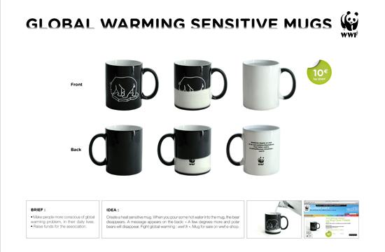 Publicis Conseil's Heat Sensitive Mugs for WWF