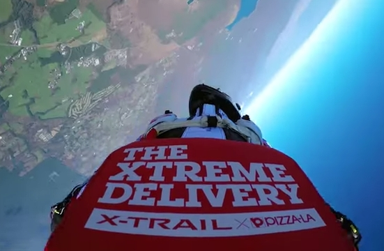 Is This The Most 'XTreme' Pizza Delivery Ever?