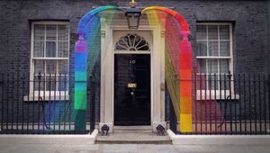 Lousia Loizeau and Jelly Represented Artist Hattie Newman Decorate 10 Downing Street to Celebrate Pride