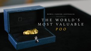 BWM Dentsu Create World's Most Valuable Poo for Bowel Cancer Australia
