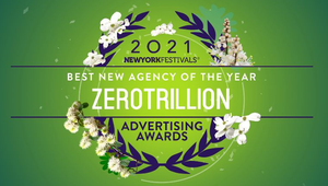 Zerotrillion Named the Best New Agency of the Year at New York Festivals