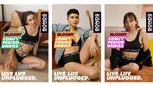 Bonds Powerful All Female Line Up Launches Bloody Comfy Period Undies