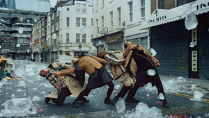 Megaforce Swings in the Rain with Surreal-but-Slick Festive Dance Routine for Burberry