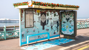 Step into the Peculiar with Hendricks' Gravity-defying Bus Shelters