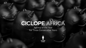 Joe Public United Named 'Agency Of The Year' for Third Consecutive Year at Ciclope Africa Festival