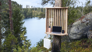 European Green Capital Lahti Takes Remote Working to the Woods with Nature Inspired Workstations