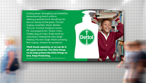 Dettol's Advisory Spot Continues to Keep the UK Protected