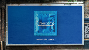 Durex Marks the End of Covid Restrictions with 'Freedom' Billboards