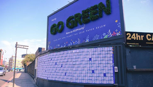 O2 Encourages the UK to Go Green with Living Billboard