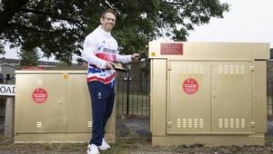 Virgin Media's Broadband Cabinets Turn Gold to Celebrate ParalympicsGB