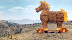 Trojan Horse Made from Pretzels and Cheddar Takes on Medieval Castle in Kraft Lunchables Ode to Imagination