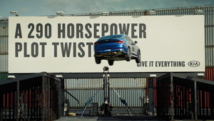Kia's Midsize Sedan Accomplishes Hollywood's Most Unrivalled Stunt