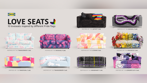IKEA Canada Celebrates Diverse Love Stories with Love Seats Inspired by 2SLGBTQ+ Pride Flags