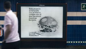 These Ads Are Made from the Charcoal of Grilled Burgers