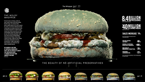 'Moldy Whopper' Campaign Recognised with 10 Pencils at D&AD Awards
