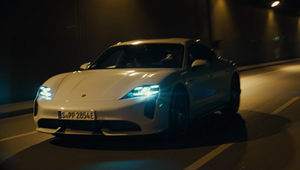 Golf Pro Paul Casey Lets Loose Off the Course for All Electric Porsche Taycan