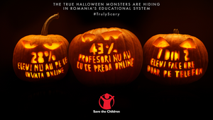 Save the Children Romania's Halloween Pumpkins Show Data is Scarier Than Ghosts