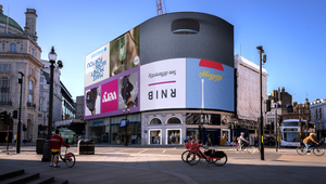 RNIB Turns Piccadilly Lights Upside-Down in Striking Awareness Campaign