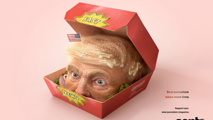 Swiss Magazine Ads Say Fast Journalism is Like Fast Food for Your Brain