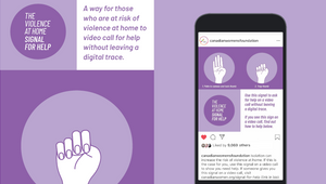 Initiative Fights Back Against Domestic Abuse Using 'Signal for Help' Without Leaving a Digital Trace