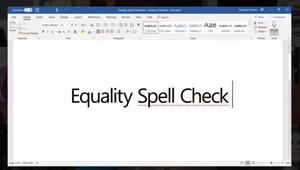 Lenovo's Microsoft Word Plug-in Spell Checks Workplace Equality