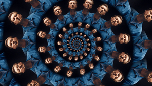 Maxim Kelly Dazzles Django Django for Music Video Spirals