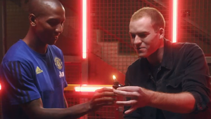 Magician Stuns Manchester United Players in Virgin Money Film