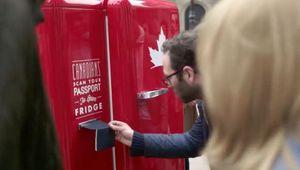 Molson Canadian's Travelling Beer Fridge