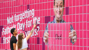Plusnet Celebrates Dads with Billboard Full of Free Father's Day Cards