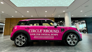 A Pink MINI, Roundabouts and a Message for Breast Cancer Awareness