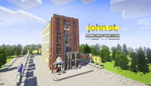 john st. Throws a 20th Anniversary Rager… in Minecraft