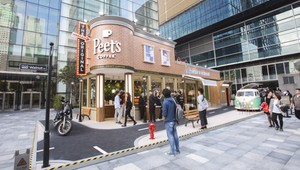 Peet's Coffee Opens 1960s Californian Pop-Up Street in Shanghai