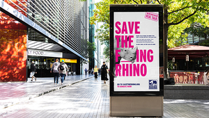 Rhino Charity Launches Bold Campaign with Urgent Plea to 'Save the F---Ing Rhino'