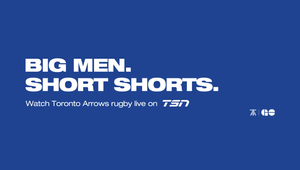 LP/AD Explains to Canadians What Rugby is All About in Campaign for The Toronto Arrows R.F.C.